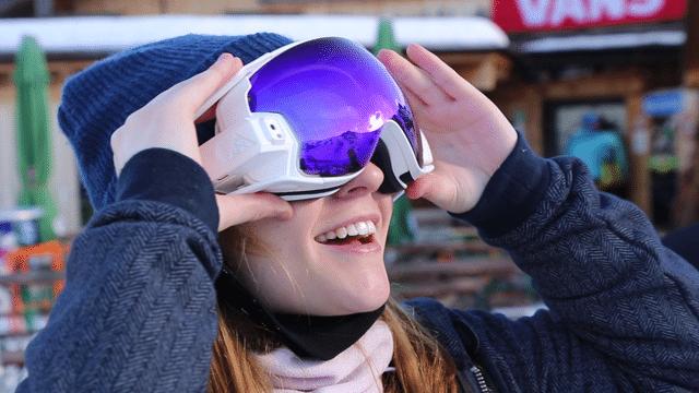 gadgeek Realite augmentee avec le masque de ski connecte rideon